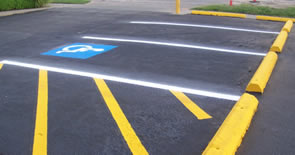 handicap parking lines